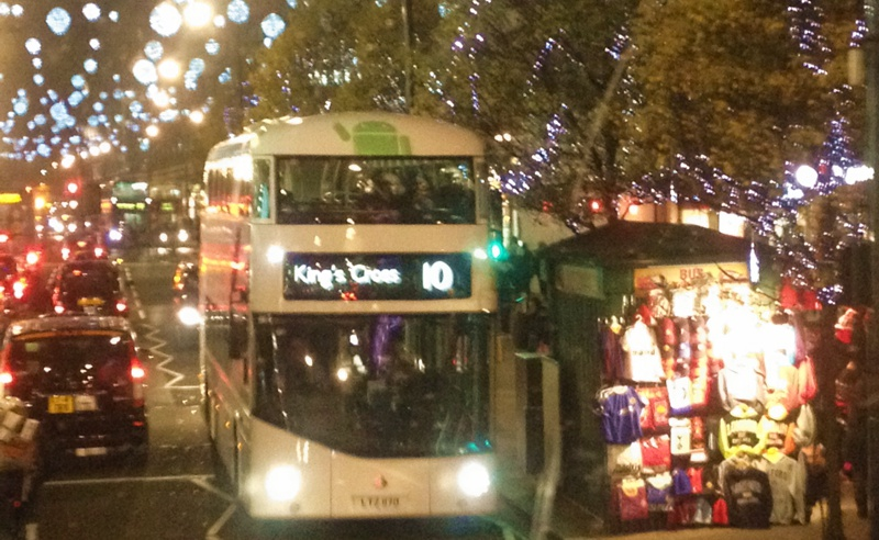 Christmas London bus