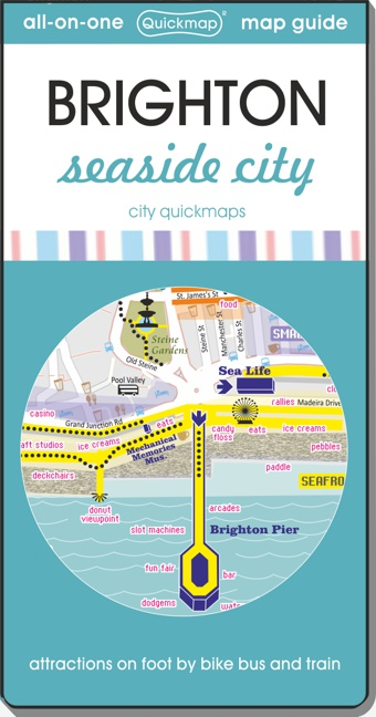 Brighton seaside city Quickmap cover ISBN 9780993161308