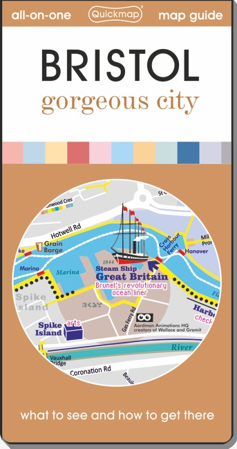 Bristol gorgeous city Quickmap cover ISBN 9780993161384