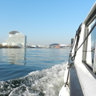 encouraging using the ferry to get to Cardiff Bay