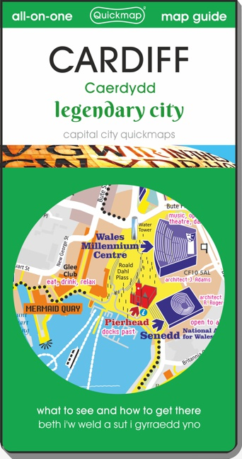 Cardiff legendary city Quickmap cover ISBN 9780993161391