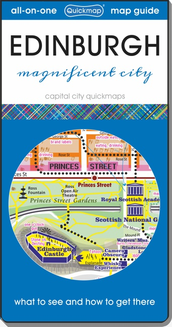Edinburgh capital city Quickmap cover ISBN 9780993359880