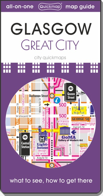 Glasgow great city Quickmap cover ISBN 9780993359811