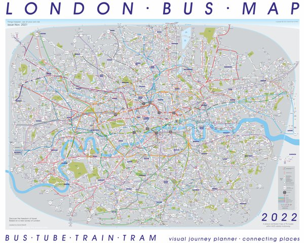 a mini image overview London's Bus Map