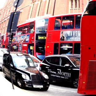 London's busy streets