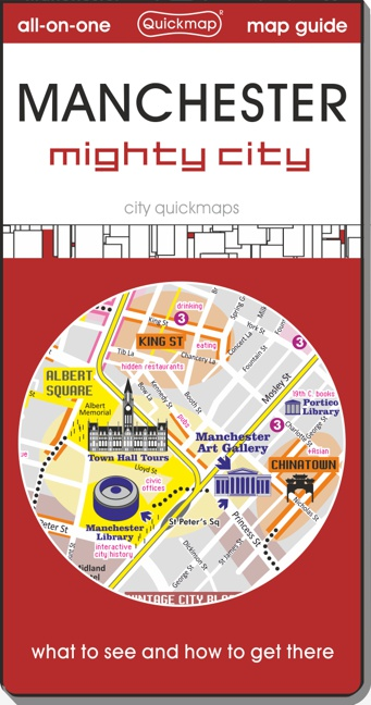 Manchester mighty city Quickmap cover ISBN 9780993359866