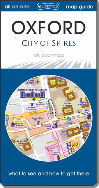 Oxford city of spires Quickmap cover ISBN 9780993161377